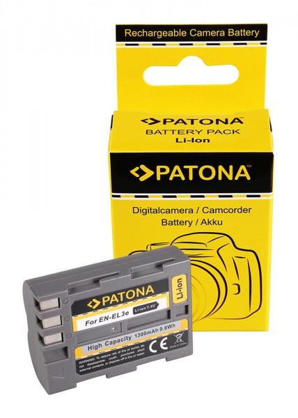 Akku f. Nikon EN-EL3E D100 D200 D300 D50 D70 D700 D80 D90 von PATONA