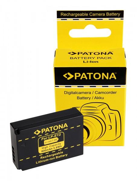Akku f. Canon LP-E12 EOS 100D M von PATONA