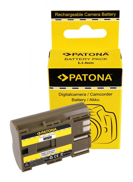 Akku f. Canon BP-511 EOS 650 10D 20D 20Da 300D 40D CMV500 D30 MV 730i von PATONA