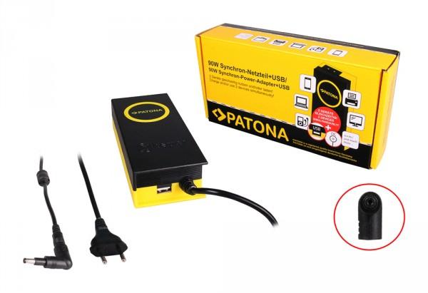 90W Synchron Netzteil 4,7x1,7x10mm 19,5V inkl. USB Ausgang 2,1A von PATONA