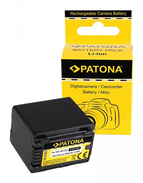 Akku f. Panasonic VW-VBT380 HC V110 V120 V160 V210 V250EB V270 V380 von PATONA