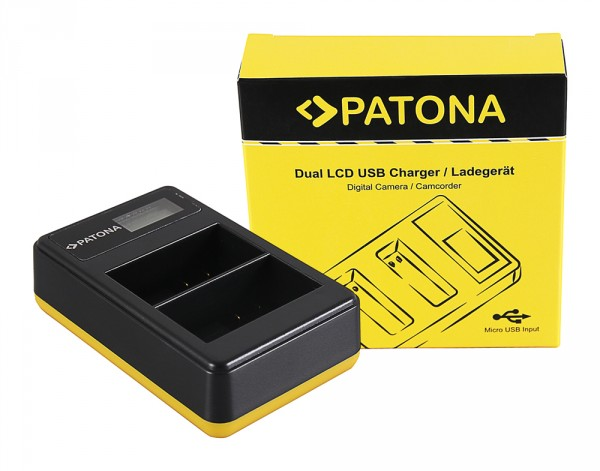 PATONA Dual LCD USB Ladegerät f. Nikon EN-EL15 D600 D610 D7000 D7100 D800 D8000 D800E D810