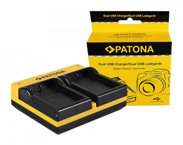 PATONA Dual Ladegerät f. Nikon EN-EL9 D40 D40x D5000 D60 inkl. Micro-USB Kabel