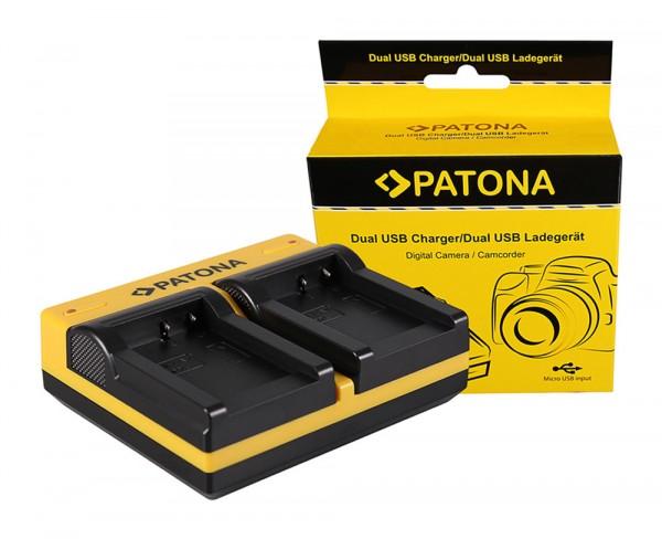 PATONA Dual Ladegerät f. Canon NB-7L Powershot G10 G11 G12 inkl. Micro-USB Kabel