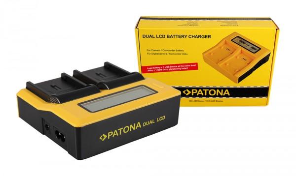 Dual LCD Ladegerät f. JVC BN-V408U V416U V428U D D30 D47AC D70K D90K GRD33AC GR-D33AC von PATONA