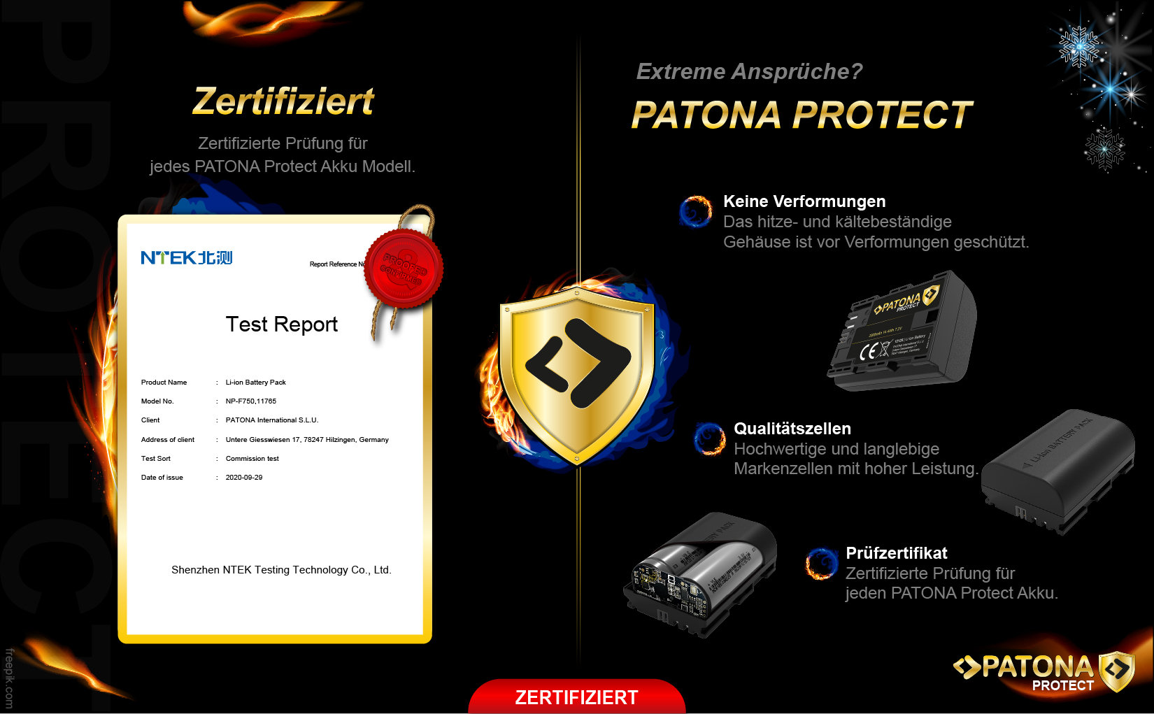 PATONA PROTECT Akku f. Sony NP-FW50 NEX-3 NEX.3C NEX-5 NEX.5A NEX-7