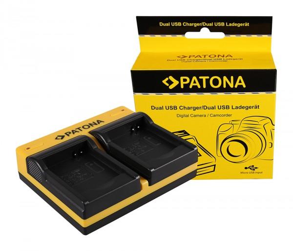 PATONA Dual Ladegerät f. Rollei RL410B Actioncam 230 240 410 410B 420 inkl. Micro-USB Kabel