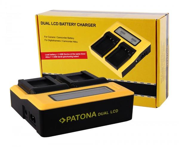 Dual LCD Ladegerät f. Panasonic BLF19 Lumix DMCGH3 DMC-GH3 DMCGH3A DMC-GH3A von PATONA
