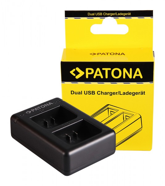 PATONA Dual Schnell-Ladegerät f. Garmin Virb XE GMICP902624 inkl. Micro-USB Kabel