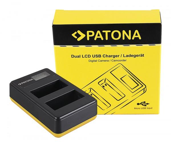 PATONA Dual LCD USB Ladegerät f. Canon LP-E8 550D 600D 650D 700D