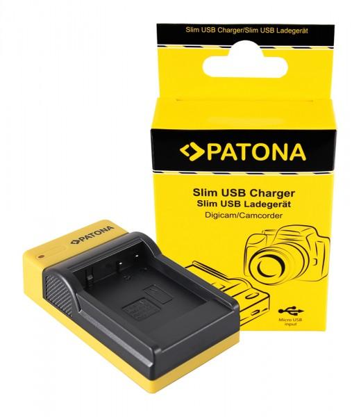 PATONA Slim Micro-USB Ladegerät f. Panasonic DMW-BLG10 CSBLG10MC CS-BLG10MC DMWBLG10 DMW-BLG10