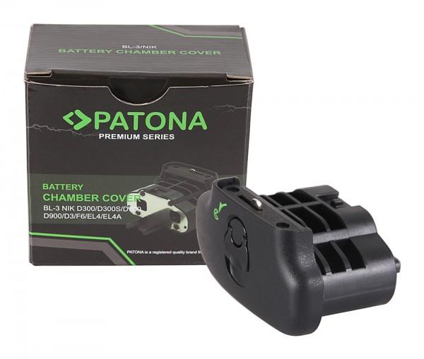 PATONA Akkufachdeckel BL-3 für Nikon D300 D300S D700 F6 D3 EL4 EL4a im Batteriegriff MB-D10 MB-D40