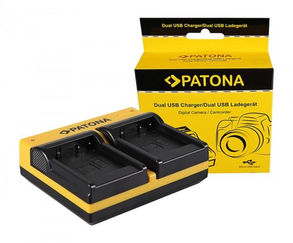 PATONA Dual Ladegerät f. Panasonic DMW-BLE9E BHL7E Lumix DMCGF3 DMC-GF3 DMCGF3CK inkl. Micro-USB Kab