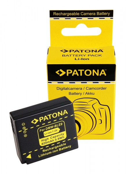 Akku f. Panasonic DMW-BLE9 Lumix DMCGF3 DMC-GF3 DMCGF3CK DMC-GF3CK von PATONA