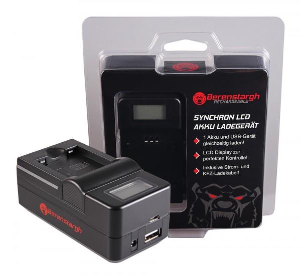 Berenstargh Synchron USB Ladegerät f. Panasonic DMW-BCN10 Lumix DMCLF1 DMC-LF1 DMCLF1K DMC-LF1K