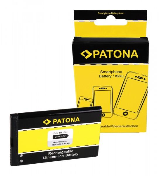 Akku f. Nokia 5800 XpressMusic Asha 200 201 302 5800 XpressMusic Lumia von PATONA