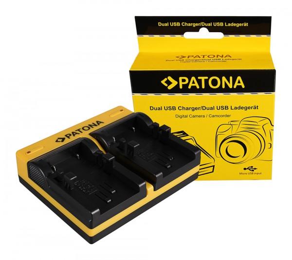 PATONA Dual Ladegerät f. Canon NB-1LH NP-600 Digital ELPH ELPH NB-1LH NP-600 Digital inkl. Micro-USB