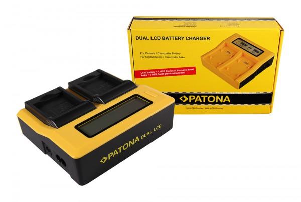 PATONA Dual LCD USB Ladegerät f. Rollei RL410B Actioncam 230 240 410 410B 420