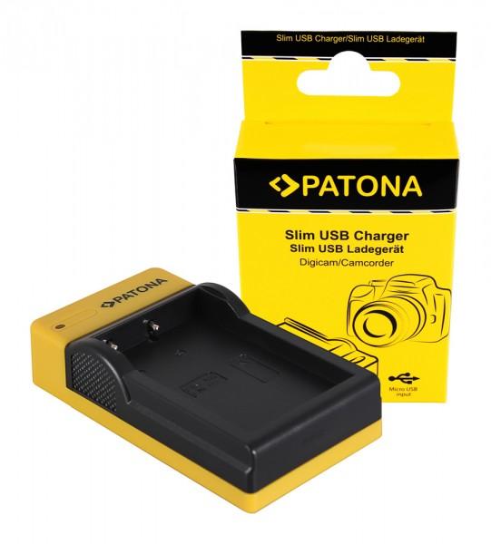 PATONA Slim Micro-USB Ladegerät f. Nikon EN-EL9 D40 D40x D5000 D60