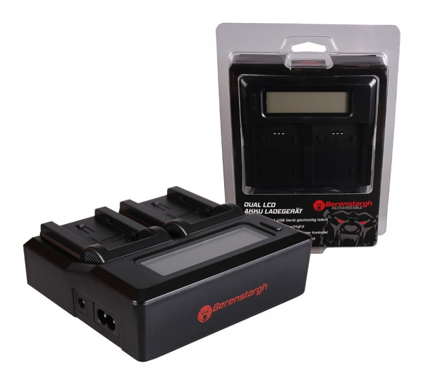 Berenstargh Dual LCD USB Ladegerät f. JVC BN-VF808U GR-D DRD818 DR-D818 GRD720 GR-D720 GRD720E