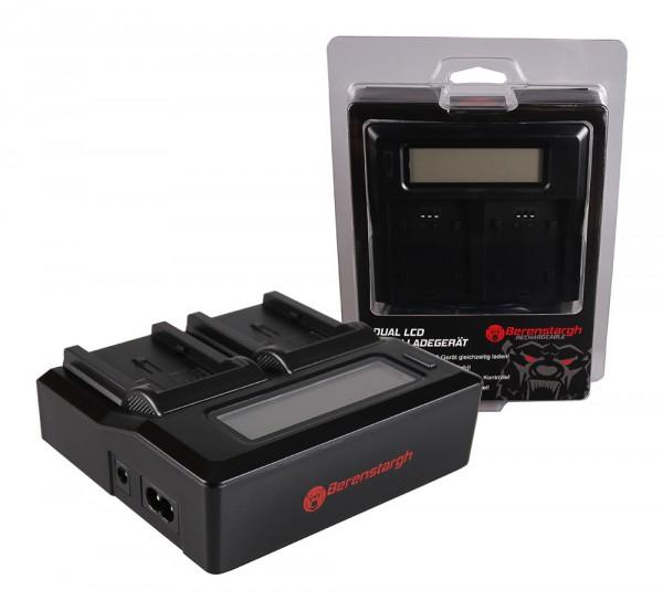 Berenstargh Dual LCD USB Ladegerät f. Canon NB-2L Camcorder MV5 MV5i MV5iMC MV6iMC MV790 MV800