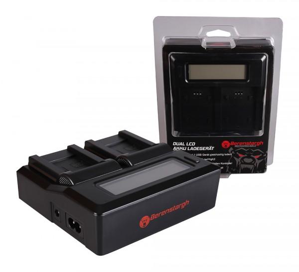 Berenstargh Dual LCD USB Ladegerät f. Samsung BP-70A ST60 ST61 ST70 ST71