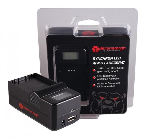 Berenstargh Synchron USB Ladegerät f. Olympus BLH-1 OM-D EM-1 Mark 2 EM-1 Mark II BLH-1 OM-D