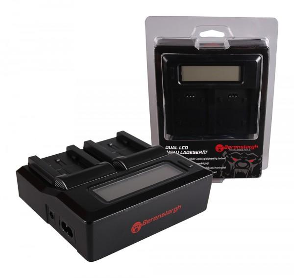 Berenstargh Dual LCD USB Ladegerät f. Panasonic VW-VBK180 H H100 H101 H95 VW-VBK180 HC HCV700 HC-V70