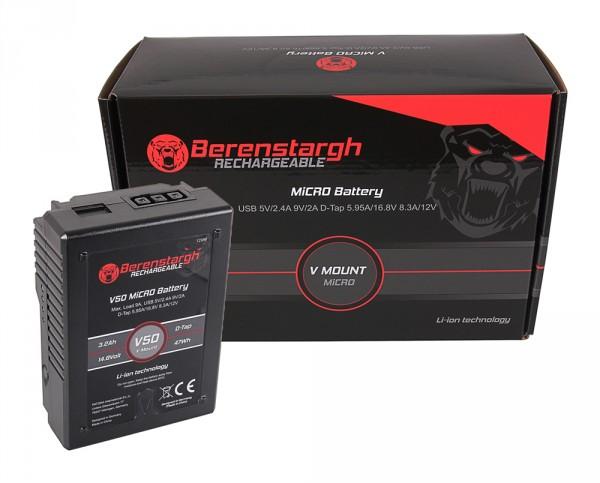 Berenstargh MICRO V50 V-Mount Akku mit 47Wh für Sony DSR 600P, 650P, 652P, HDW 800P, PDW 850, B