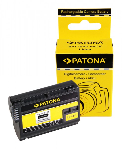 Akku f. Nikon ENEL15 1 V1 ENEL15 D600 D610 D7000 D800 D8000 D800E D810 von PATONA