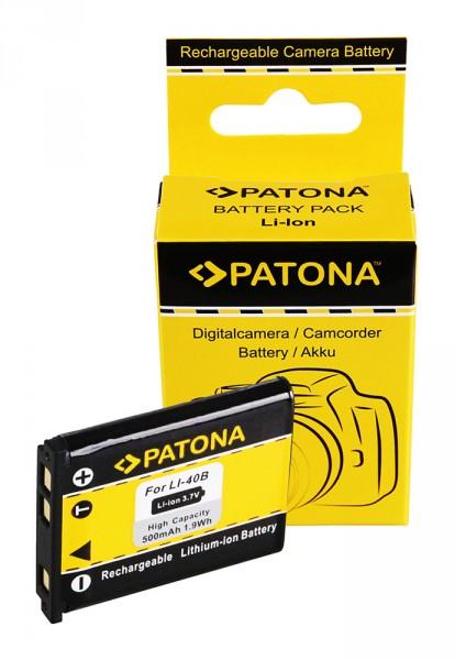 Akku f. Kodak Li-40b Klic 7006 Li-40b Li-40b Nikon Li-40b CoolPix S200 von PATONA