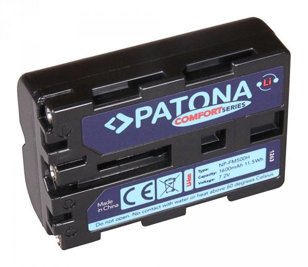 Comfort Akku f. Sony NP-FM500H Alpha 57 65 77 99 DSLRA100 DSLR-A100 DSLRA100H von PATONA