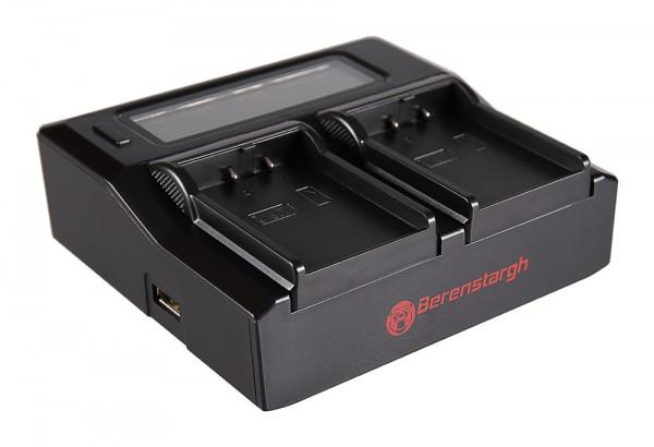 Berenstargh Dual LCD USB Ladegerät f. Nikon EN-EL2 CoolPix 2500 3500 SQ