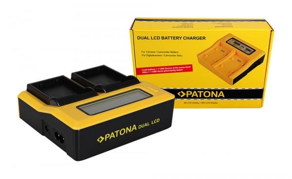 Dual LCD Ladegerät f. Nikon EN-EL15 1 D600 D610 D7000 D7100 D800 D8000 D800E D810 V1 von PATONA