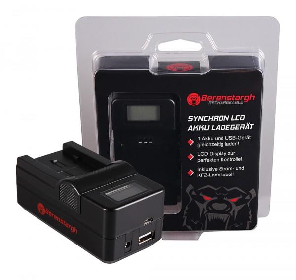Berenstargh Synchron USB Ladegerät f. Panasonic VW-VBK180 H H100 H101 H95 VW-VBK180 HC HCV700 HC-V70