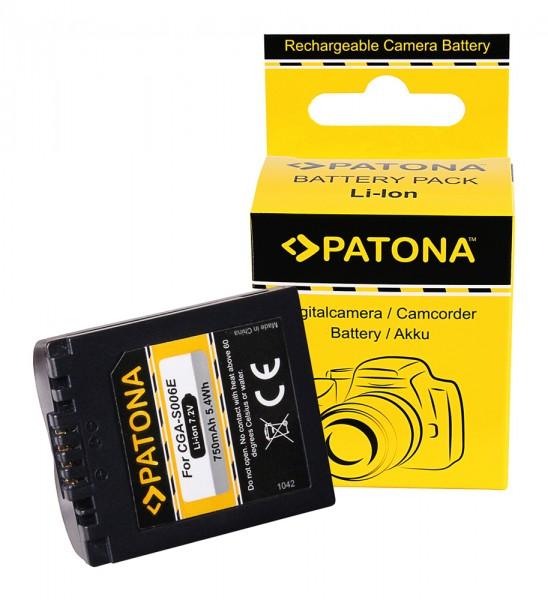 Akku f. Panasonic CGA-S006E Lumix DMCFZ 8 DMC-FZ 8 DMCFZ18 DMC-FZ18 von PATONA