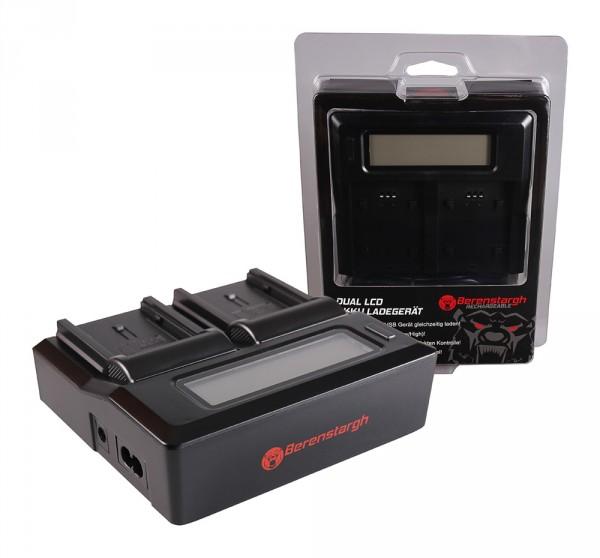 Berenstargh Dual LCD USB Ladegerät f. Panasonic VBN130 260 HC HCX920M VBN130 260 HDC HC-X920M