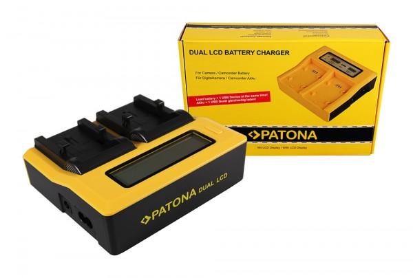 PATONA Dual LCD USB Ladegerät f. Olympus Li-10B Camedia C50 Zoom C5000 Zoom C60 Zoom C760 Ultra