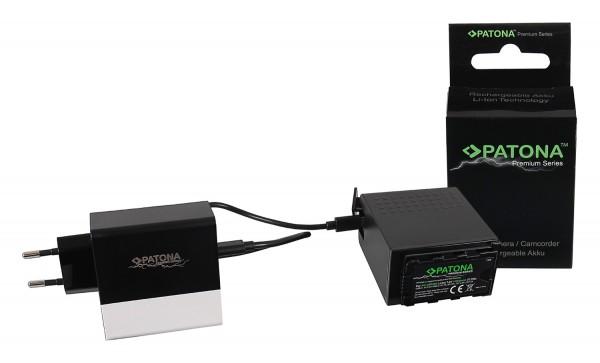 PATONA Premium Akku f. Panasonic AG-VBR89G AU-EVA1 AG-DVX200 AG-UX90 AJ-PX270 mit USB-Port USB-C / USB mit zusätzlichem PD-Ladegerät