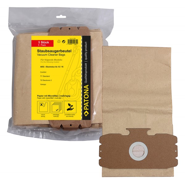 10x Mehrlagiger Papier Staubsaugerbeutel f. AEG Gr.12 Electronic Comfort 1100 Comfort Gs Comfort Ti