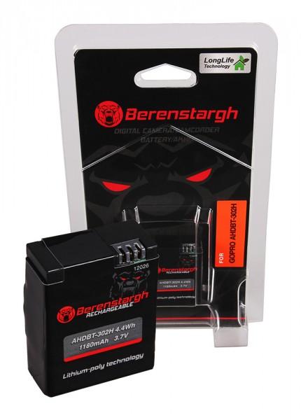 Berenstargh Akku f. GoPro AHDBT-302 Hero 3+ HD Hero 3 3+