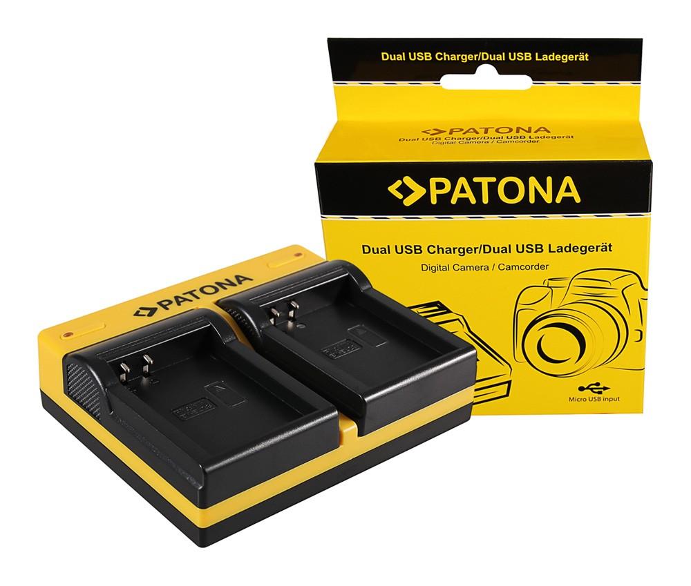 Patona Nikon EN-EL23 Coolpix p600 dupla töltő  USB kábellel