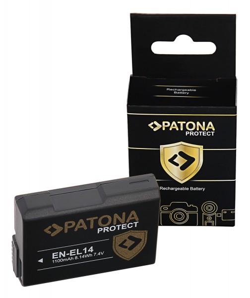 PATONA PROTECT Akku voll dekodiert f. Nikon EN-EL14 Coolpix P7800 P7700 P7000 D5300
