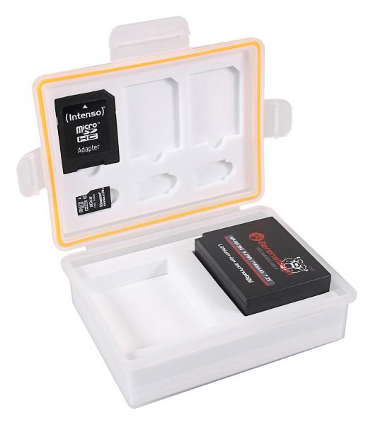 PATONA Aufbewahrungsbox für Akkus und Speicherkarten f. Canon LP-E10 Nikon EN-EL23 Fuji NP-W126 Panasonic DMW-BLG10