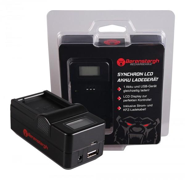 Berenstargh Synchron USB Ladegerät f. Leica Panasonic DMW-BLC12PP V-Lux 4 Panasonic DMW-BLC12PP