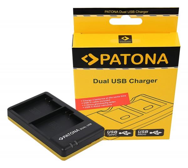 PATONA Dual Schnell-Ladegerät f. Nikon EN-EL15 ENEL15 inkl. USB-C Kabel