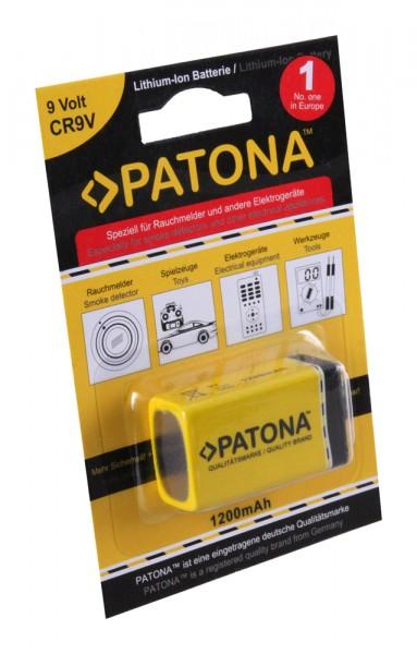 9V Lithium-Ion Block Batterie f. 6LR61 ER9V Rauchmelder 1200mAh von PATONA
