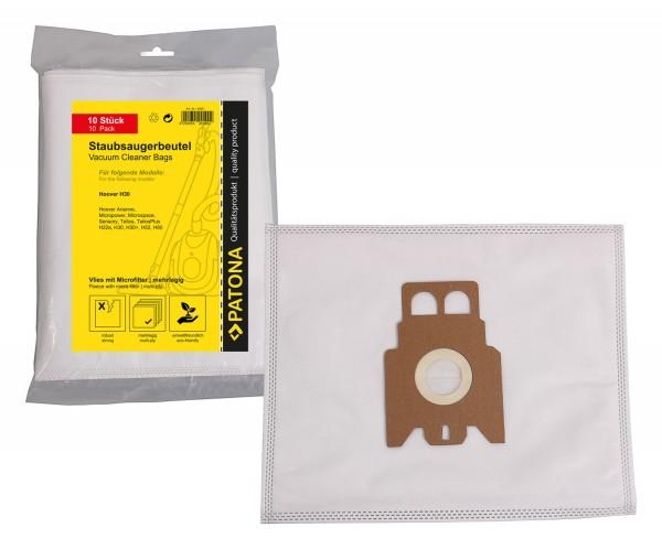 PATONA 10 Staubsaugerbeutel mehrlagig Vlies inkl. Microfilter f. Hoover H22 H22A H30 H36 H52 H60 H60