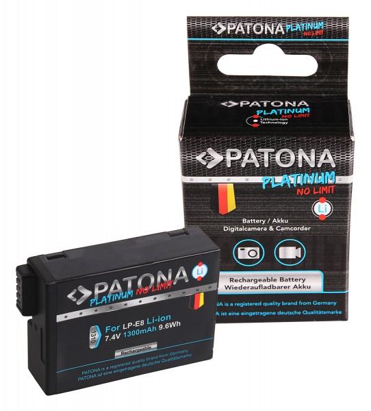 PATONA Platinum Akku f. Canon EOS 550D 600D 650D 700D LPE8 LP-E8 LP-E8+