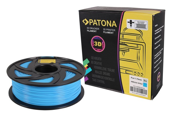 PATONA 1,75mm himmelblaues PLA 3D Drucker Filament